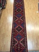 2and0397 X 17and039 Floral Indian Floor Runner Oriental Rug - Hand Made - 100 Wool