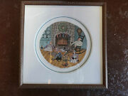 P. Buckley Moss Christmas Eve Framed Signed Print 1352/5797 Sold Out
