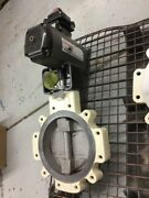 High Performance Butterfly Valve 12 150 Lug Durco Bx2 W/ Actuator And Positioner