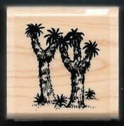 Joshua Tree Yucca Palm Desert Landscape Scape Stampin Up 1995 Wood Rubber Stamp