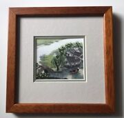 Artall Vintage Classic Chinese Country Scene Needlework Su Embroidery