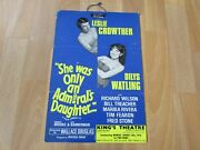 Leslie Crowther She Was An Admiral's Daughter 1972 Kings Theatre Southsea Poster
