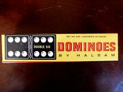Dominoes By Halsam Set 623 28 Piece- Double Six Dominoes Antique Toys-games