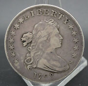Rare 1798 Draped Bust Dollar Strong Vf Condition