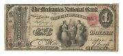 Mechanics National Bank Nyc 1865 1andnbspnat. Bank Note Charter 1250 Scarce Find