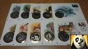 1986 Wwf For Nature Preserve Planet Earth Medallic Cover Medal Coin + Info Card