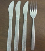 Vintage United Airlines Collectible Stainless 3 Knives, 1 Fork Flatware
