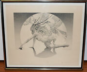 James Drake Genesis Limited Lithograoh Print 02/30 1973 Signed And Dated