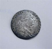 1787 Great Britain Sterling Silver Shilling Hearts George Iii Km 607.2 Unc