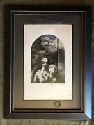 Madonna And Child Etching Signed And Limited - Dark Gothic Alien Tone