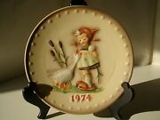 Vintage Hummel Fourth 4th Edition Annual Plate 1974 West Germany Hum 267