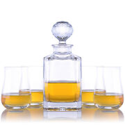 Bohemia Crystal Decanter And Scotch Glasses 5 Piece Set By Crystalize