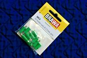 Brawa 3053 Old Style Green Plugs For Marklin 2,5 Mm 10 Pk New Fast Us Shipping