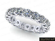 Natural 2.70ct Diamond Shared U-prong Eternity Band Ring 10k Gold G Si1 Womenand039s