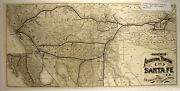 1884 Railroad Map» Atchison, Topeka And Santa Fe» By Poole Bros»16½ X 33½ « Fine