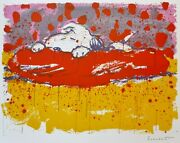 Tom Everhart Cochon Sortie Snoopy Peanuts Main Signandeacutee Lithographie