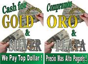 Poster Cash For Gold And Compramos Oro Spanish 2 Advertising Posters 18x24