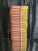 Lot Of 17 Vhs Emergency Tv Series Vol.1-9 And Vol. 10-18. Museum Idea.