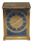 Vintage Luxor Swiss Mini Mantle Gold Alarm Clock For Shreve Crump And Low Co