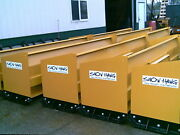 10and039 Snow Hawg Snow Pusher Plow For Skid Steer