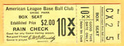 Super Vintage 1931 Philly A's Ticket Stub At Shibe Park