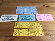 Palisades Amusement Park And Hunt Brothers Circus Mint Old Stock Tickets
