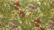 2y Gorgeous Htf Kravet Belize Natural Tropical Floral Tapestry Upholstery Fabric