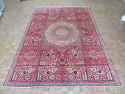 9and03911 X 13and03910 Hand Knotted Egyptian Geometric Red Mamluk Fine Oriental Rug G4697