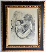 Joan Purcell 1933 Vintage Original Lithograph Signed Numbered Mother And Child