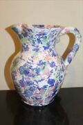 Kenneth George Cole's Pottery 7 Tall Pitcher, Multi Colored Spatter Glaze, 2010