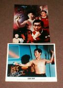 Two George Takei As Star Trek's Sulu Autographed Color Photos