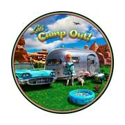 Vintage Sign Camp Out Round 14 X 14