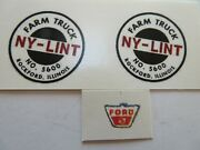 Replacement Water Slide Decal Set And Ford Emblem For Nylint Farm Truck