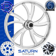 Rotation Saturn Chrome Custom Motorcycle Wheel Front Package Harley Fatboy 18
