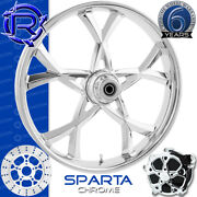 Rotation Sparta Chrome Custom Motorcycle Wheel Front Package Harley Fatboy 18