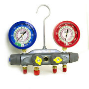 Yellow Jacket 46011 Manifold Only Liquid Gauges Psi R-22/410a