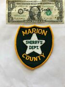 Marion County Florida Police Patch Sheriff's Dept. Un-sewn In Great Shape