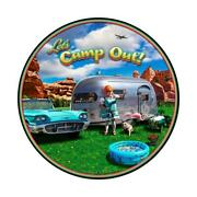 Vintage Sign Camp Out 28 X 28