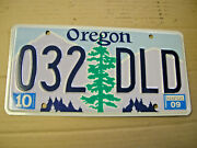 1-2009 Oregon License Plate.nice Condition.slightly Bowed.very Little Wear.