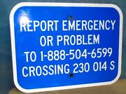Vintage Report Emergency Crossing Rr Railroad Aluminum One-sided Sign 12x9 S274
