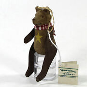 Midwest Of Cannon Falls Hometown Teddies Wooden Bear Ornament Metal Arm Legs