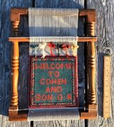 Vintage Cohen And Son Oriental Rug Sign Miniature Carpet Keene New Hampshire Rare