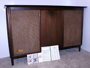Voice Of Music Vm 816-3 Mid Century Modern Am/fm Stereo Tube Console + Manual