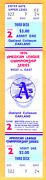 Super Rare Full Ticket 1974 Alcs Playoffs Game 2-a's/orioles