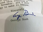 George Bush Thank You Letter Signed Autograph 1980 Vice Presidential Nominee