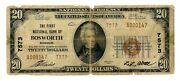 Bosworth Missouri Mo 20 National Bank Note 1929 Series Ty 2 Ch 7573