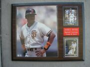 Barry Bonds 12 X 15 Brown And Black Wood Plaque Sf Giants And Pittsburgh Pirates