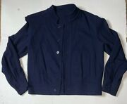 Preowned- Yves Saint Laurent Button Front Grandad Collar Jacket Mens Size S