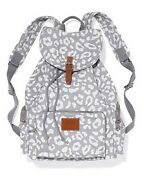 Victorias Secret Gray Leopard Full Size Backpack School Gym Tote Bag Nwt