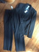 Nwt Ann Taylor Loft Fully Lined Womenand039s Gray Pinstripe Pant Suit Size 8/12